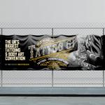 Outdoor vinyl banner