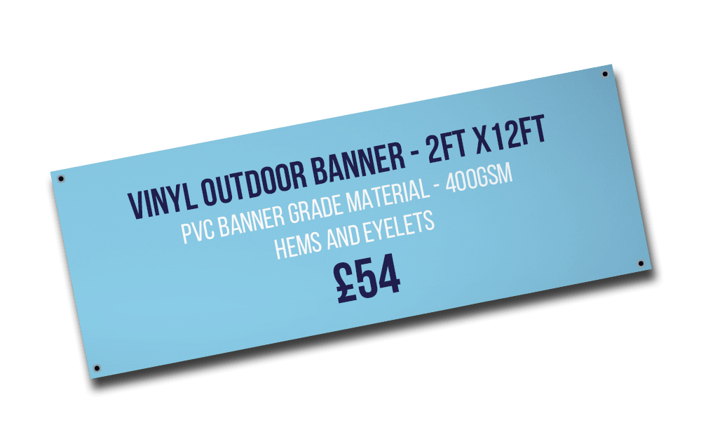 Outdoor banner printing services